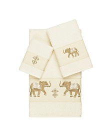Quinn 3-Pc. Embroidered Turkish Cotton Towel Set