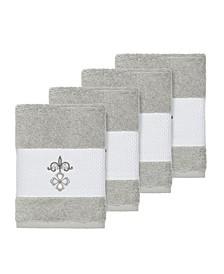 Quinn 4-Pc. Embroidered Turkish Cotton Washcloth Set