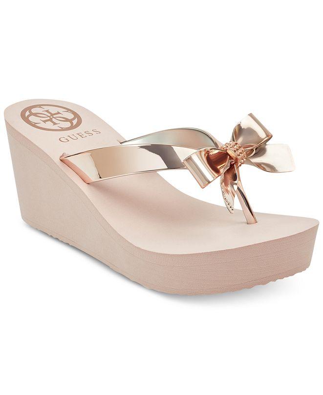 GUESS Women's Siarra Flip-Flop Wedge Sandals