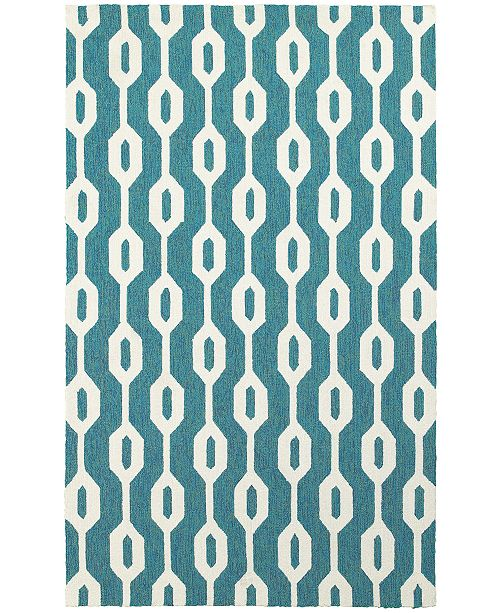 Tommy Bahama Home CLOSEOUT!   Atrium Indoor/Outdoor 51102 Blue/Ivory 10' x 13' Area Rug
