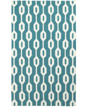 Closeout! Tommy Bahama Home Atrium Indoor/Outdoor 51102 Blue/Ivory 10' x 13' Area Rug