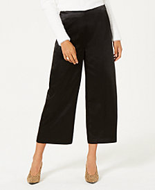 Bar III Satin Wide Leg Pants, Created for Macy's