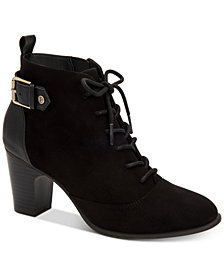 Giani Bernini Candence Memory Foam Lace-Up Ankle Booties, Created for Macy's