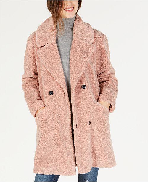 05e4cdda9d1 Lucky Brand Faux-Fur Teddy Coat   Reviews - Coats - Women - Macy s
