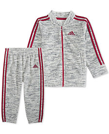 adidas Baby Girls 2-Pc. Velour Track Jacket & Pants Set