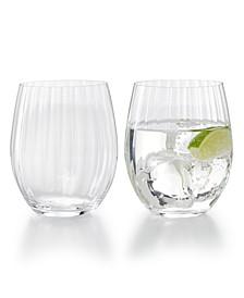 Optical O Longdrink Glasses, Set of 2