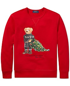 Big Boys Holiday Bear Fleece Sweatshirt