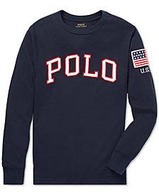 Polo Ralph Lauren Big Boys Logo Graphic Long-Sleeve Cotton T-Shirt