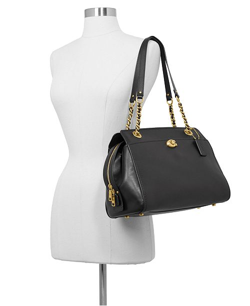 197544c06e2f COACH Parker Carryall Satchel in Refined Leather - Handbags ...