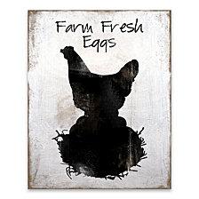 Farm Fresh Eggs Wood, MDF Box