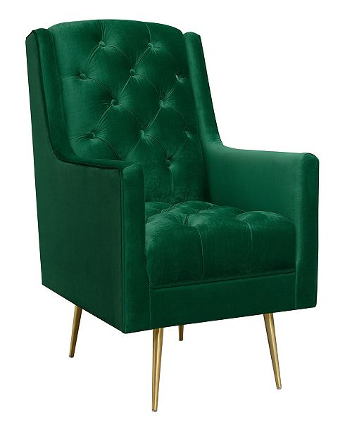 Picket House Furnishings Reese Button Tufted Accent Chair