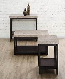 Caleb 3 Piece Occasional Table Set-Coffee Table, End Table and Sofa Table