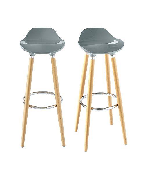 Terrific Leo Low Back Bar Stool Set Machost Co Dining Chair Design Ideas Machostcouk
