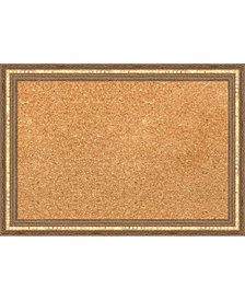 Amanti Art Fluted Champagne 20x14 Framed Cork Board