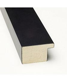 Amanti Art Mezzanotte Black 30x22 Framed White Christmas Card Cork Board
