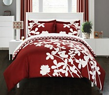 Chic Home Calla Lily 7 Pc Queen Duvet Set