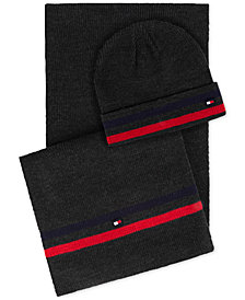 Tommy Hilfiger Men's Signature Hat & Scarf Set, Created for Macy's