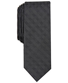 Penguin Men's Wefald Skinny Check Tie