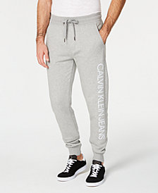 Calvin Klein Jeans Men's Reflective Logo Fleece Jogger Pants