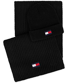 Tommy Hilfiger Men's Logo Hat & Scarf Set, Created for Macy's