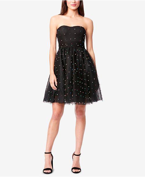Betsey Johnson Embellished Fit   Flare Dress - Dresses - Women - Macy s 647031ad9