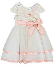 Baby Girls Sequin Two-Tier Fit & Flare Dress