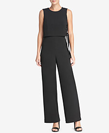 DKNY Grommeted Popover Jumpsuit, Created for Macy's