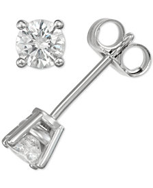 Diamond Stud Earrings (3/8 ct. t.w.) in 14k Gold or White Gold
