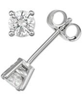 0a785cec932 Diamond Stud Earrings (3 8 ct. t.w.) in 14k Gold or White