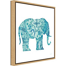 Amanti Art Boho Teal Elephant I by Danhui Nai Canvas Framed Art