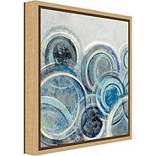Amanti Art Variation Blue Grey II by Silvia Vassileva Canvas Framed Art