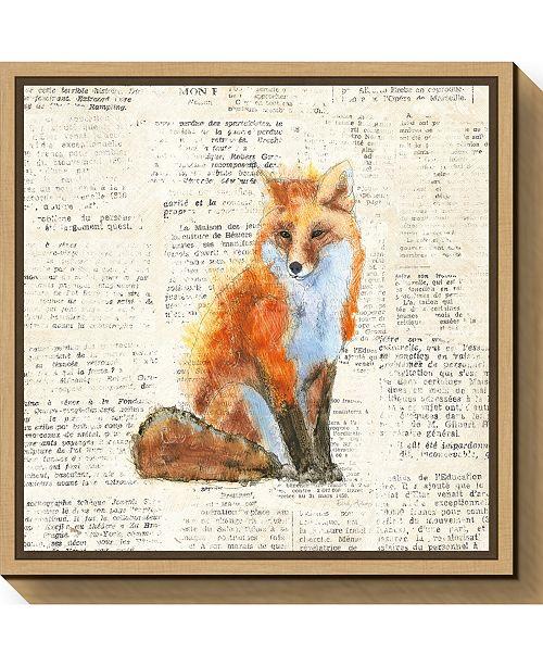 Amanti Art Into the Woods IV no Border Fox by Emily Adams Canvas Framed Art