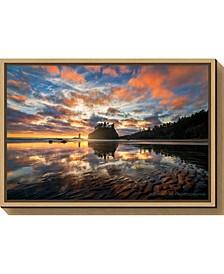 Sunset Symphony by John Fan Canvas Framed Art