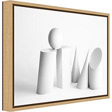 Amanti Art Geometric forms II by Martin Zalba Canvas Framed Art