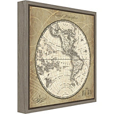 Amanti Art French World Map III by Susan Schlabach Canvas Framed Art