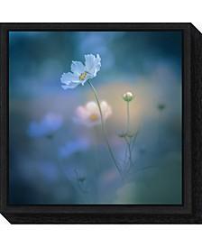 white shadow by Miyako Koumura Canvas Framed Art