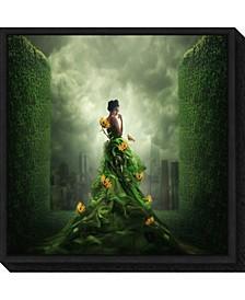 Go Green by Hardibudi Canvas Framed Art