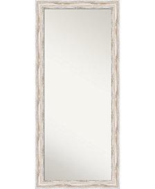 Amanti Art Alexandria Wood 29x65 Floor-Leaner Mirror