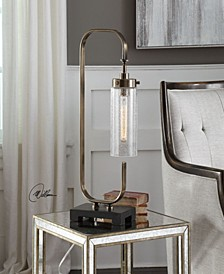 Keltie Seeded Glass Desk Lamp