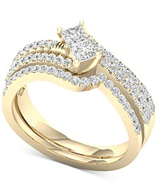 Diamond Two-Stone Bridal Set (7/8 ct. t.w.) in 14k Gold