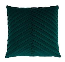 """James Pleated Velvet Pillow, 20"""" x 20"""""""