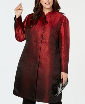 Image of Anne Klein Plus Size Dot-Print Jacket