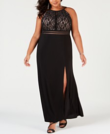 Morgan & Company Trendy Plus Size Lace Gown