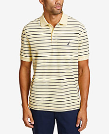 Nautica Mens Striped Deck Polo
