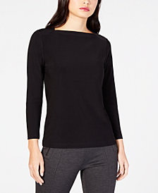 Anne Klein Boat-Neck Top