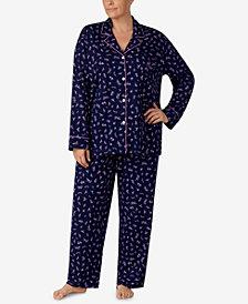 Lauren Ralph Lauren Plus Size Printed Pajama Set