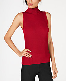 Anne Klein Sleeveless Turtleneck Sweater