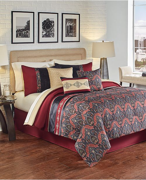 Hallmart Collectibles Farrah 7-Pc. Full Comforter Set, Created for Macy's