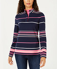 Charter Club French Terry Henley Top, Created for Macy's