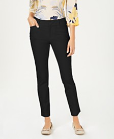 Charter Club Petite Solid Newport Slim-Leg Pants, Created for Macy's